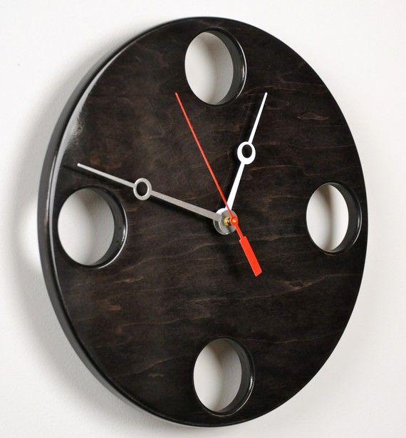 POP Clock in Black Medium size by whitevan on Etsy, $145.00