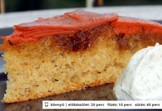 Sütőtökös fordított sütemény diós habbal