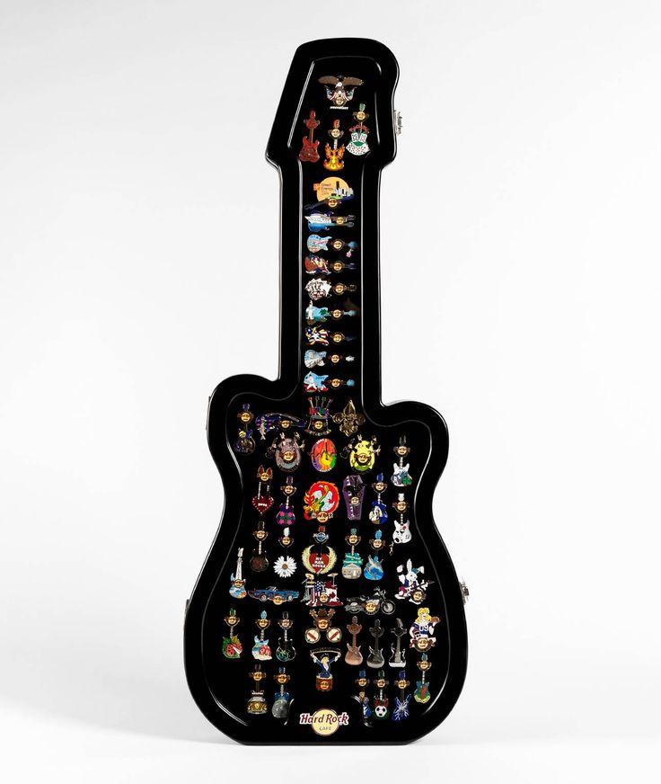 Hard Rock Cafe Guitar Pin Display Case