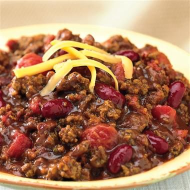Beef & Bean Chili - South Beach Diet Phase 1..i can so do this. This is how i make my chili anyway :)