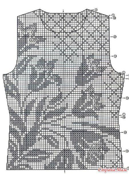 Захотелось мне связать филейный топ. Очень своевременно появилось видео Ангелины 770 (всегда любуюсь ее работами), где она очень подробно и понятно описывает процесс вязания туники с лилиями.