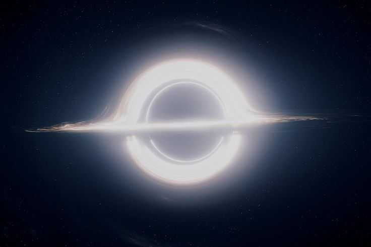 Kip Thorne's rendering of a black hole