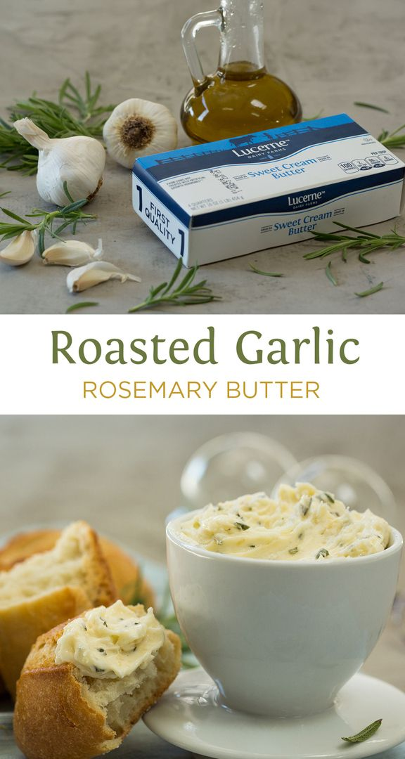 Roasted Garlic Rosemary Butter - The butter you will want to melt on everything!!! Rolls, steak, chicken, fish or even soups. This is great to make sauces out of too. Comforting and delicious.