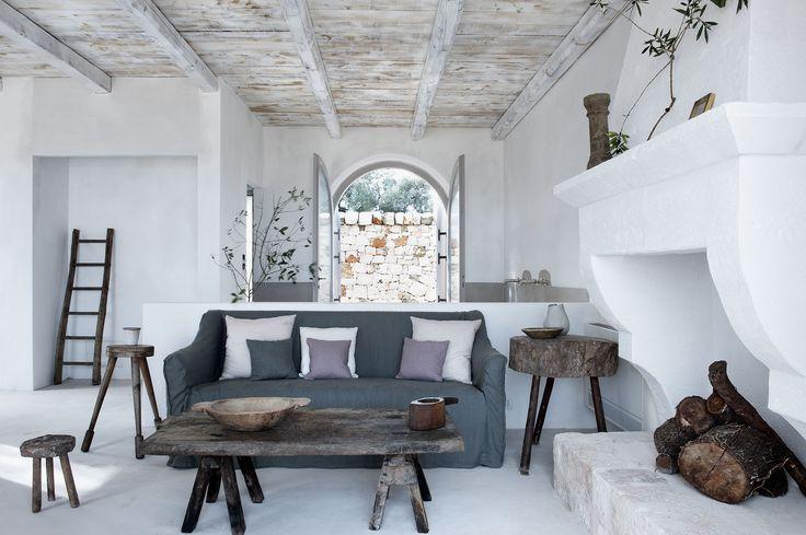 House Tour: Pastels Go Rustic in an Italian Farmhouse