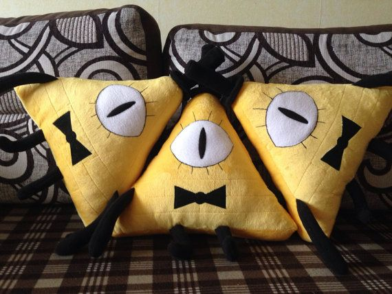 Bill Cipher from Gravity Falls by plushtoysdunpil on Etsy