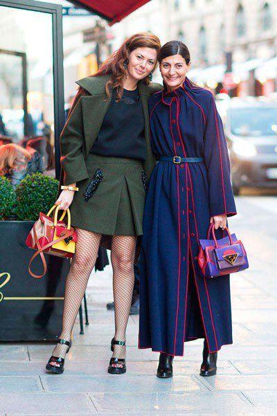 Sara Battaglia и Giovanna Battaglia. Уличная мода Парижа осень 2014