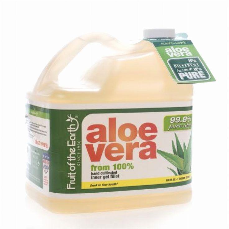 Aloe Vera Juice 99.8% Pure Aloe Fruit Of The Earth No Sugar 1 gallon Organic NEW #FruitoftheEarth