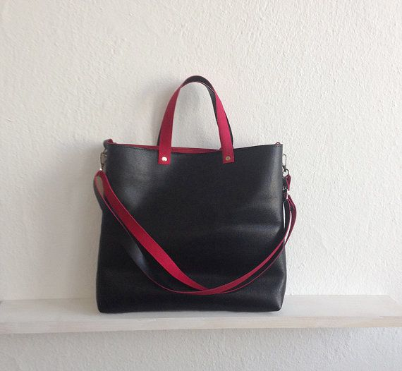 Hey, I found this really awesome Etsy listing at https://www.etsy.com/listing/269544991/leather-tote-bag-crossbody-bag-saffiano