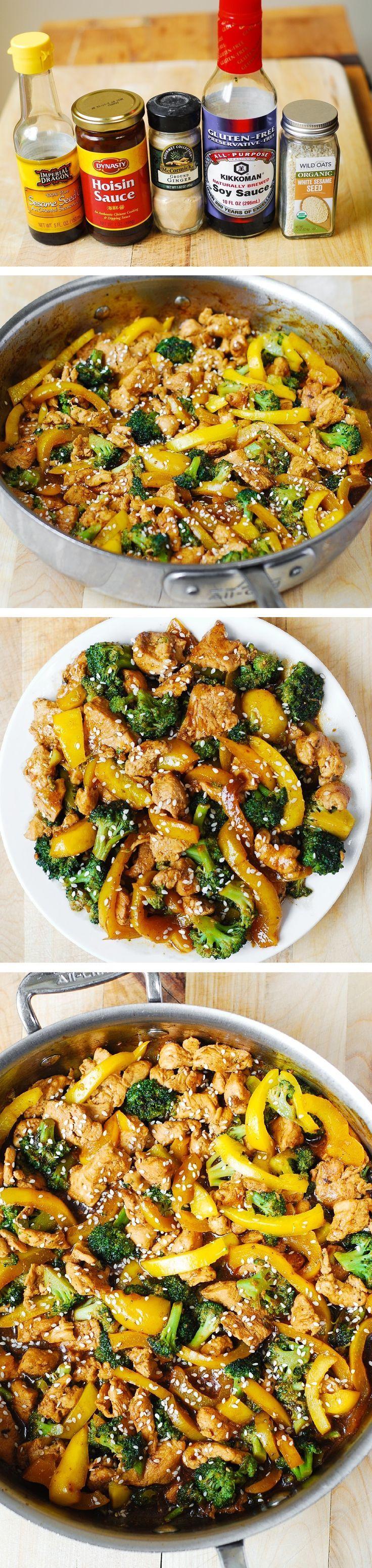 Chicken, Broccoli, and Yellow Bell Pepper Stir Fry #stirfry #chicken #vegetables