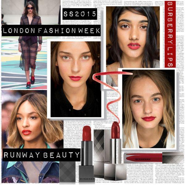 LFW SS15 Beauty Trend Burberry Lips