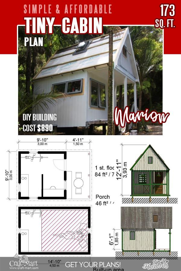 13 Best Small Cabin Plans With Cost To Build Craft Mart Small Cabin Plans Cabin Plans Tiny Cabin