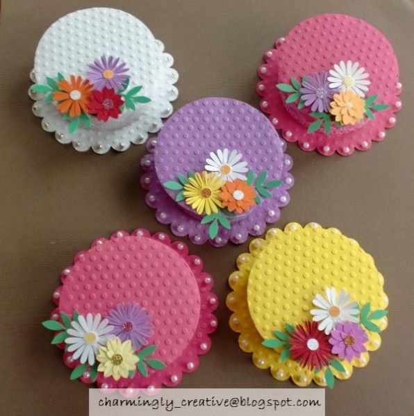 Mothers Day Hats by Charminglycreative - Cards and Paper Crafts at Splitcoaststampers
