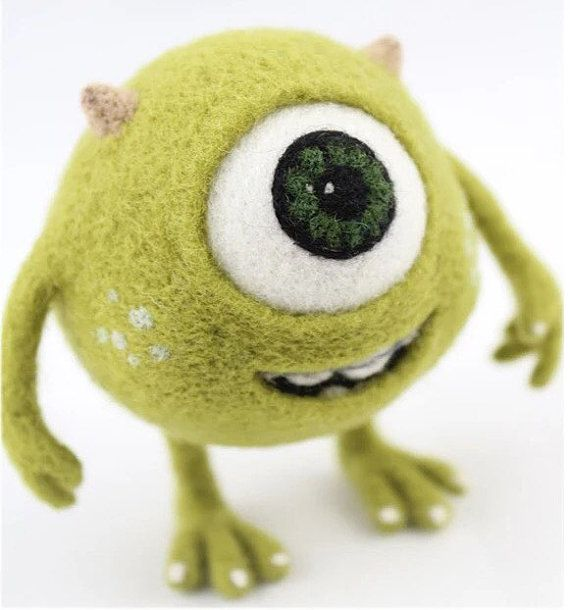 Monster University's Mike needle felting figure by APHandcrafts