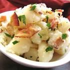 Authentic German Potato Salad - substituted with 2 cans of sliced potatoes.  Tasted great!
