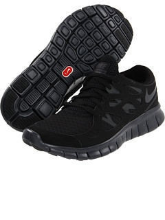 Nike...just ordered these!  Finally found an all black running shoe!  <3