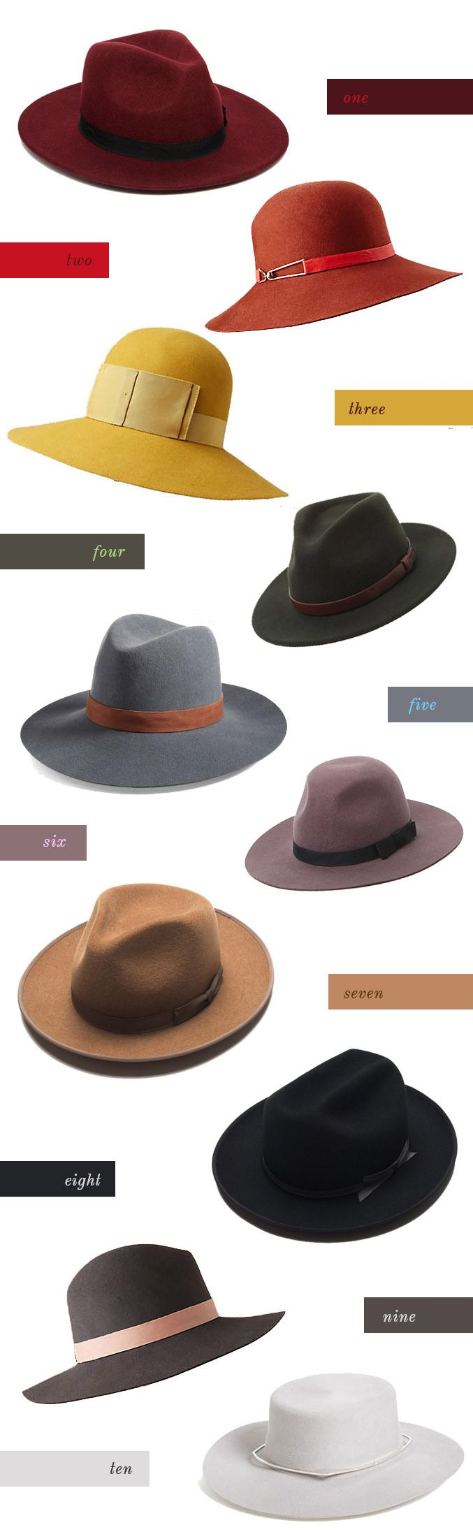 10 fall hats