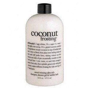 Philosophy Coconut Frosting Shampoo/Shower Gel/Bubble Bath, 16 Ounces