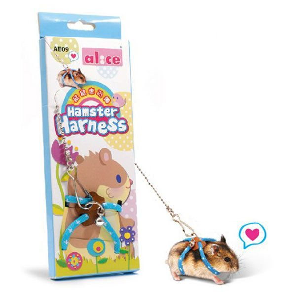 Pet Rat Mouse Harness Rope Hamster Squirrel Lead Leash Band Finder Bell