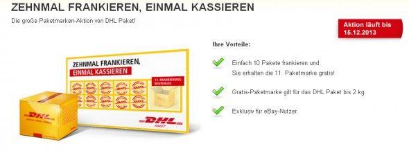 Paketmarken-Aktion von DHL Paket: jede 11. Paketmarke kostenfrei - http://www.onlinemarktplatz.de/36867/paketmarken-aktion-von-dhl-paket-jede-11-paketmarke-kostenfrei/