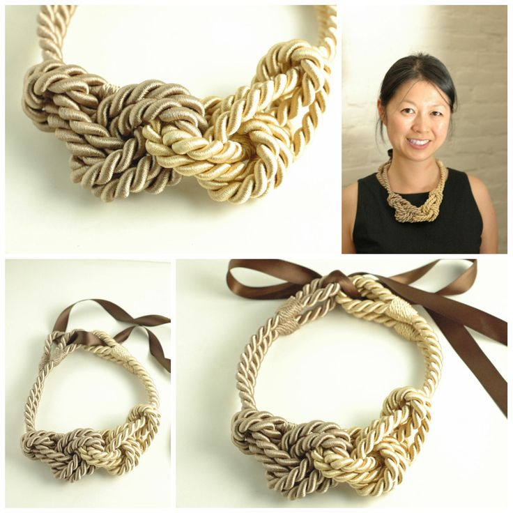 Rope necklace/I think I could do this with cord or leather!