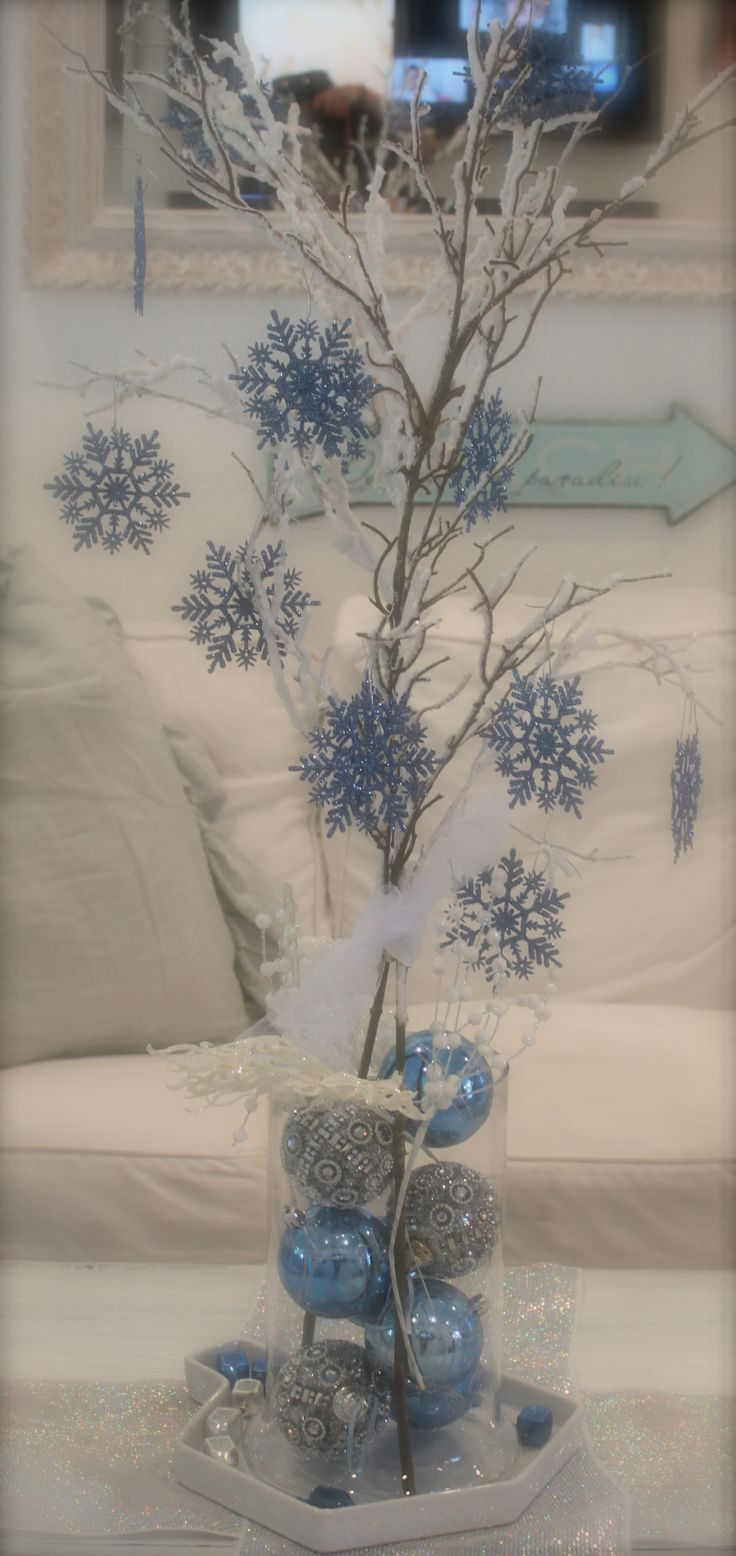 DIY Winter Centerpiece