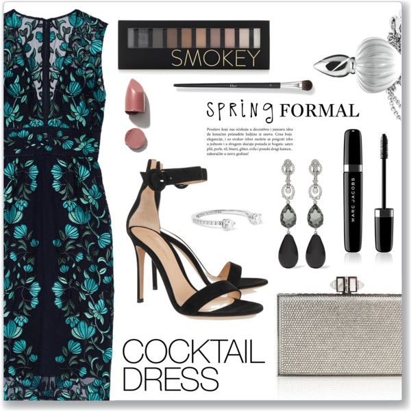 A fashion look from May 2016 featuring Lela Rose dresses, Gianvito Rossi sandals and Judith Leiber clutches. Browse and shop related looks.