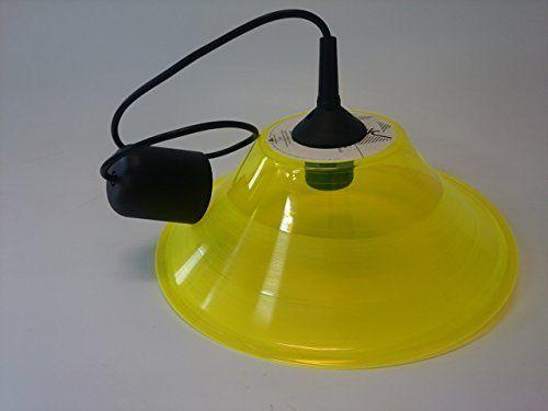 Deckenlampe Lampenschirm gelb hergestellt aus original Vinyl Schallplatte