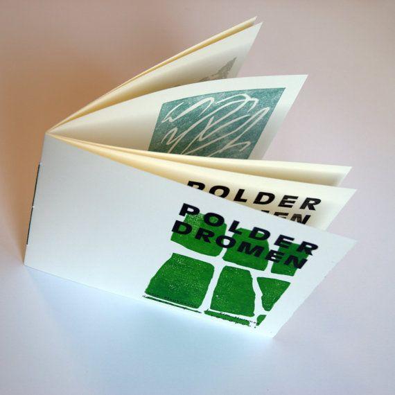 for sale 'Polderdromen' (aka polder dreams), hand printed book #drukkerijde1000poot #deslootjesschilder