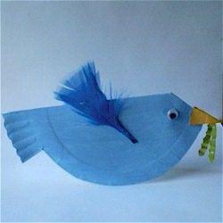 Paper Plate Bluebird Craft