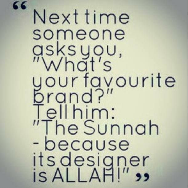 What is your favourite brand? #Sunnah #Islam #Allah