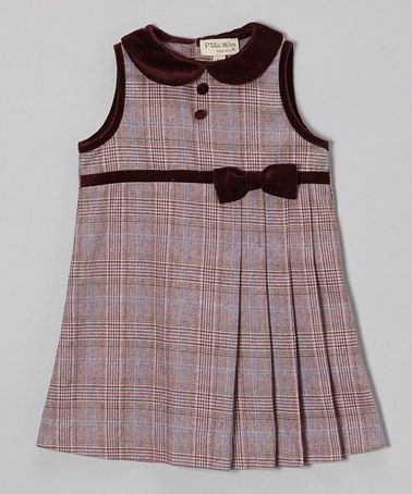 Take a look at this Purple Plaid Shift Dress - Infant & Toddler by P'tite Môm on #zulily today!