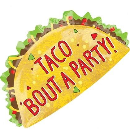 Taco 'Bout A Party Mylar Balloon | Bachelorette Party Balloons