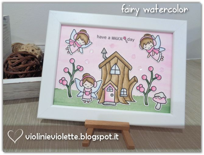 fairy watercolor frame ♥
