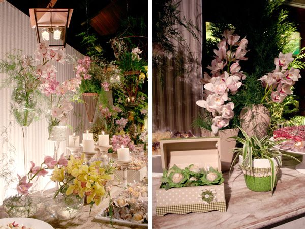 Orquídeas para dar um ar delicado à decoração de casamento