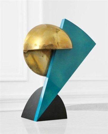 Serge Manzon (1930-1998)  Lampe Eclair, vers 1980 La base, le pied et le ré