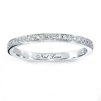 Brides: Women's Wedding Rings with Diamonds: Diamond Wedding Bands for Women: Neil Lane  Style 531870006, 14k white gold wedding band with .17 ct round-cut diamonds, $679, Neil Lane Bridal available at Kay Jewelers