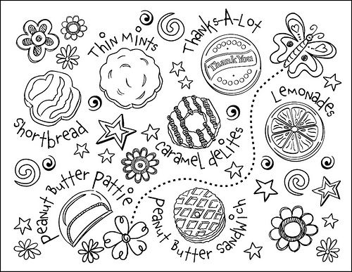 girl scout cookie coloring page totten totten totten corrales brown