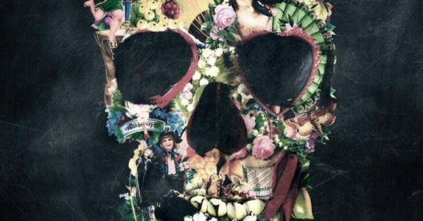 Ali Gulec illustrations: Skulls, Skull Prints, Vintage Wardrobe, Art Prints, Sugar Skull, Skull Art, Halloween Treats, Tattoo, Flowers Skull