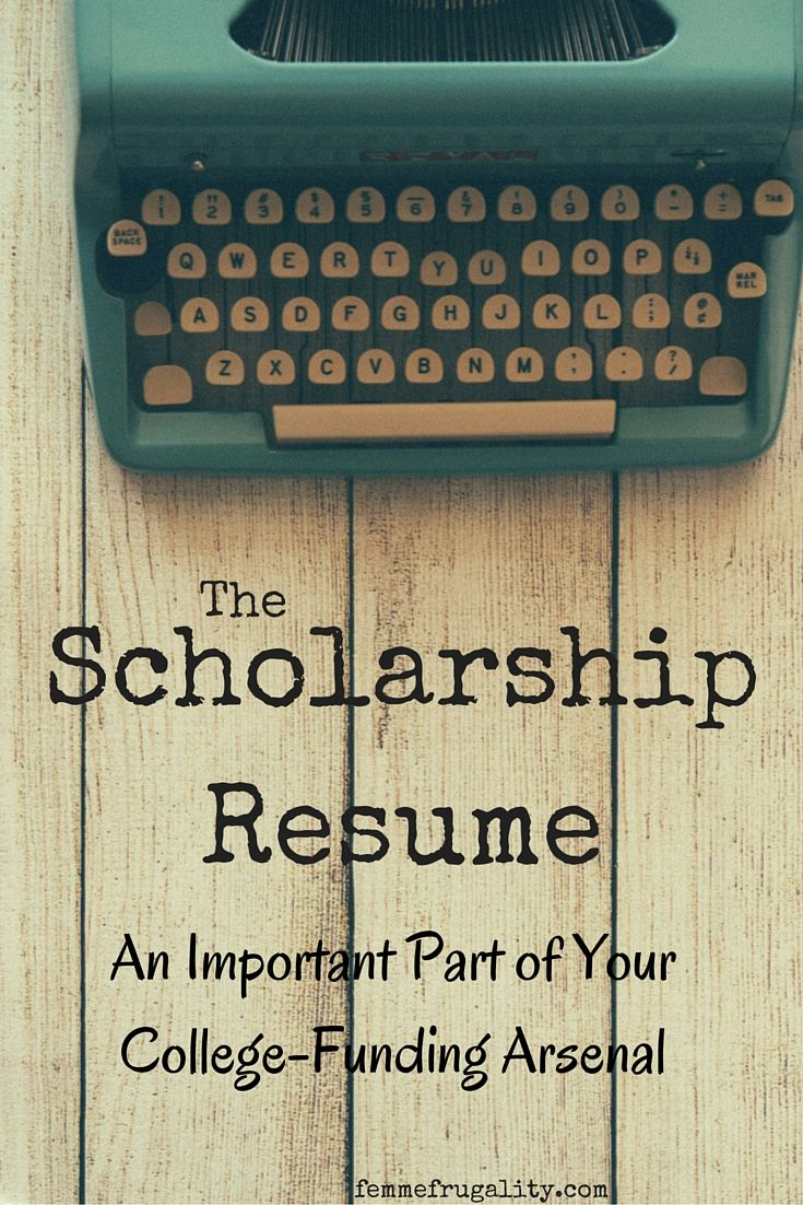 Find out what a scholarship resume is