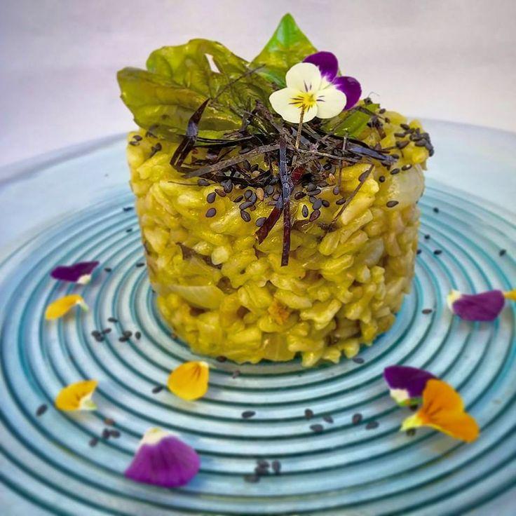 Un risotto Estivo dalla marcia in piu': Shiso, te' Matcha e Limone