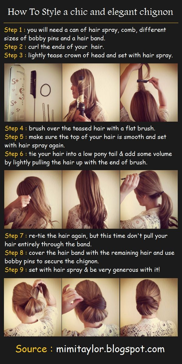 How To Style a chic and elegant chignon