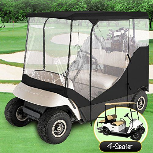 Golf Carts Ideas | WATERPROOF SUPERIOR BLACK AND TRANSPARENT GOLF CART COVER COVERS ENCLOSURE CLUB CAR EZGO YAMAHA FITS MOST FOURPERSON GOLF CARTS -- You can find out more details at the link of the image. Note:It is Affiliate Link to Amazon.