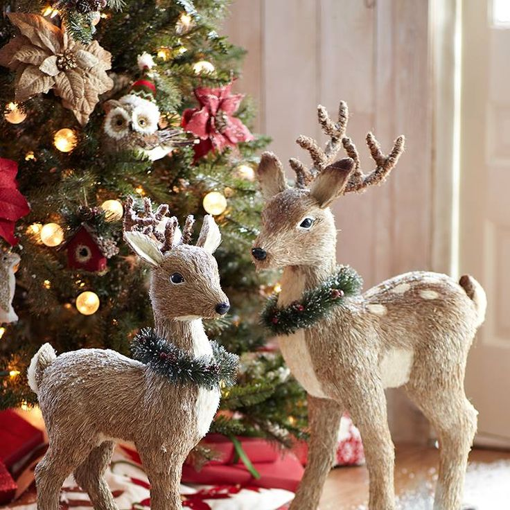 pier one deer decor.  I bought the large deer with the 2 smaller size deer and love them!