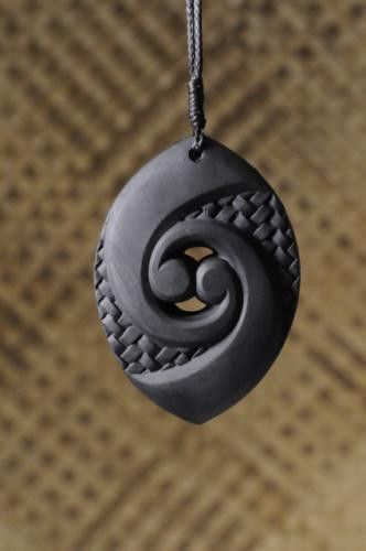 Koru Pendant - Bolshie black recycled rubber | NativeBrand