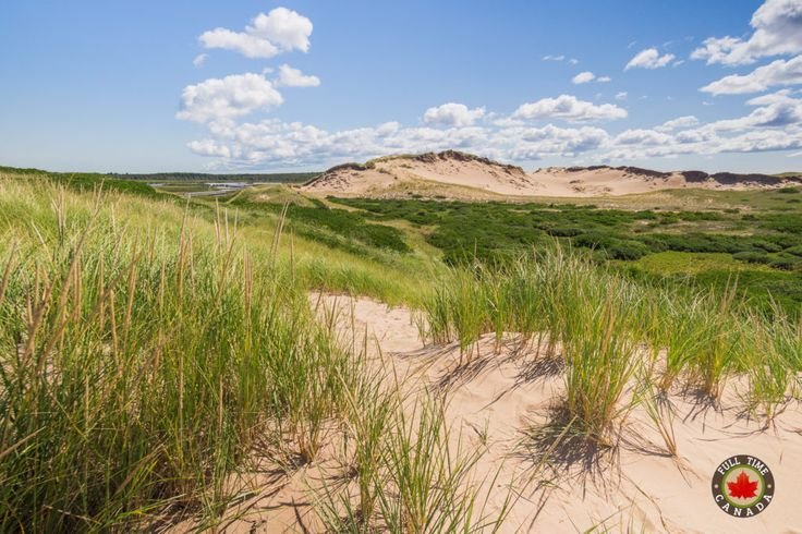 Lookout from atop one of the dunes at Greenwich. Read more about our time visiting PEI National Park.