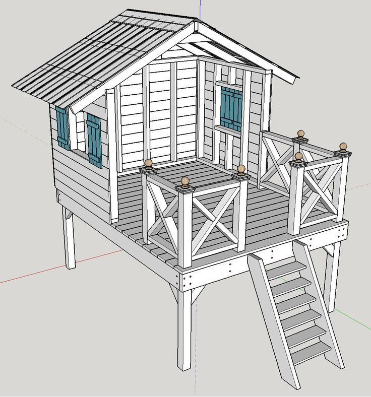 """Sketchup Home Design: Google SketchUp Plans For The """"Handmade Hideaway"""" From The"""