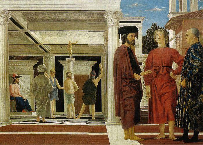 Piero della Francesca - Flagellazione di Cristo, 1459