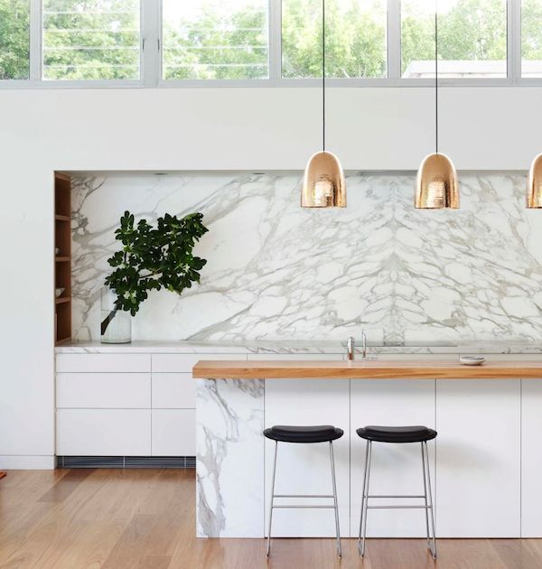 Bellevue Hills House Kitchen marble