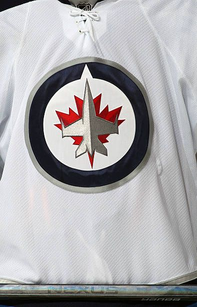 A look at the logo of the Winnipeg Jets during a game against the Philadelphia Flyers on February 23 2013 at the Wells Fargo Center in Philadelphia...