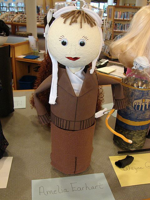 Biography Bottles.  Use a water bottle or a two liter soda bottle.  Great idea for historical figures or book characters.